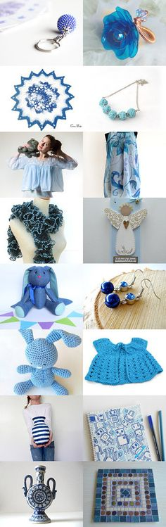Blue gifts on Etsy by styledonna on Etsy--Pinned+with+TreasuryPin.com