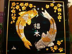 1,001 folded cranes to make this beautiful koi design