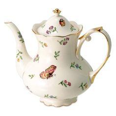 Morning Meadows Teapot - 32oz, Gold
