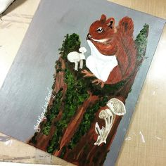Red squirrel is done. Enough @thestromboshow left to sketch out the #hedgehog #art #wildlife #nature