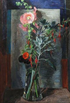 Flowers in a Glass Vase Artist: Vanessa Bell Year: c.1930 Type: Oil on canvas