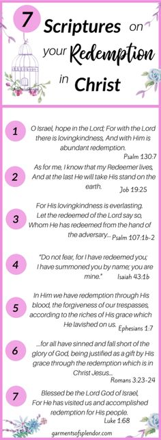 7 scriptures on your redemption in Christ