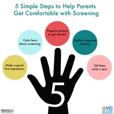 Use these five steps to help parents get comfortable with developmental screening. What Next, Behavior, No Response, Parents, How To Get, Age, Tips, Fathers, Advice