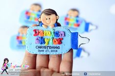 Christening Bapstimal Baby Souvenir - Clayland Souvenir Shop Polymer Clay Princess, Birthday Souvenir, 3d Printing Business, Property Rights, Baby Dedication, Baptism Favors, Biscuit, Polymer Clay Creations, Diy Invitations