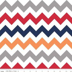 Red Rooster Quilts: Shop   Category: Chevron by Riley Blake Designs   Product: c320-02 Medium Chevron Boy Multi