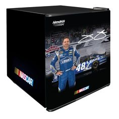 Jimmie Johnson NASCAR Beverage Center There's nothing quite like popping open a cold drink while you're tailgating for the big race. This NASCAR Cold Drinks, Beverages, Gifts For Sports Fans, Beverage Center, Solid Doors, Nascar, Walmart, Products, At Walmart