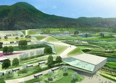 folding landscape | Daily Dose of Architecture: From Mirage City to Taekwondo Park