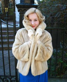 50s Honey Blonde Mink Fur Coat