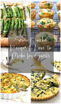 Guests this weekend? Try one of these seven quiche recipes that fill a multitude of needs--from gluten-free to low-carb. One is sure to please!
