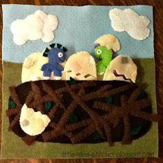 Little Miss Stitcher: Dinosaur Quiet Book - dino eggs
