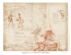 """""""Nogitsune"""" from the Teen Wolf Bestiary by Swann Smith. Art prints starting at US$20."""