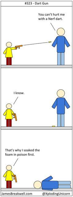 Dart Gun ~ James Breakwell's Unbelievably Bad Webcomic