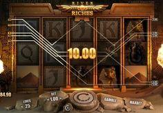 Игровой автомат River of Riches с выводом денег. Игровой онлайн аппарат River of Riches посвящён древнеегипетской тематике. Осуществить вывод больших денег из автомата помогут щедрые коэффициенты и прибыльный режим фриспинов.   Выводите деньги из пирамиды С помощью этого