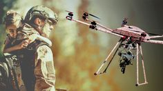 "US firm reveals gun-toting drone that can fire in mid-air: ""armed with a machine-gun and a grenade launcher. The gun can be fired only by remote control, and is designed to reduce military casualties by cutting the number of ground troops required. Thriller, Law Of War, Small Drones, Image Caption, New Gadgets, Military Weapons, Navy Seals, Drone Photography, Troops"