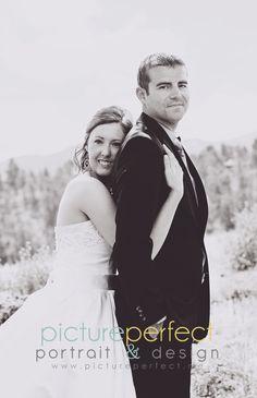 Bride & groom pose  © Picture Perfect Portrait & Design