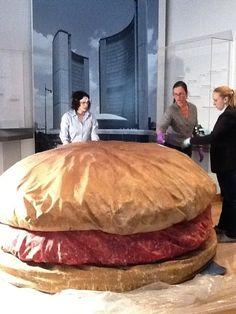 Claes Oldenburg Conserving the Floor Burger on ArtStack Middle School Art, Art School, James Rosenquist, Claes Oldenburg, T Art, Soft Sculpture, Installation Art, Online Art, Conservation