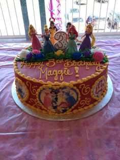 Red Disney Princess Cake