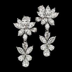 pragnell marquise diamond earrings
