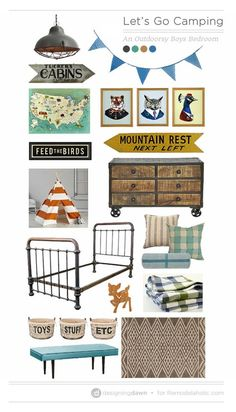 Let's Go Camping – Inspiration for an Outdoorsy Boys Bedroom. Boys Bedroom Outdoor ThemeKids Camping BedroomBoys Camp ...