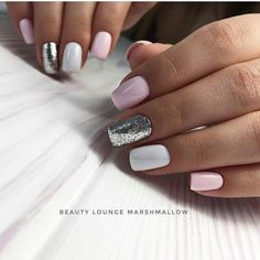Make an original manicure for Valentine's Day - My Nails Gorgeous Nails, Love Nails, My Nails, Manicure E Pedicure, Cute Acrylic Nails, Trendy Nails, Halloween Nails, Nails Inspiration, Beauty Nails