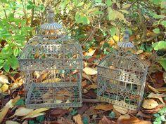 Cage à oiseau style brocante