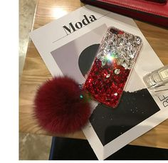 Diamond Gradient Color Plush Ball Phone Case – Phone case for girls Ipod Touch Cases, Bling Phone Cases, Diy Phone Case, Cute Phone Cases, Iphone Cases, Iphone 8, Ball Decorations, Wedding Function, Mobile Covers