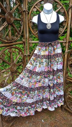 18 tiered romantic broomstick skirt  X small  X by LamplightGifts, $25.75