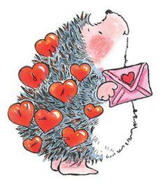 Ein kleiner Igel mit einem Liebesbrief. Darin der Hinweis auf ein schönes…