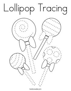 Lollipop Tracing Coloring Page - Twisty Noodle Valentine Cupcakes, Heart Cupcakes, Pink Cupcakes, Valentine Treats, Preschool Printables, Preschool Worksheets, Preschool Learning, Fruit Coloring Pages, Cool Coloring Pages