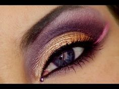 Arabic makeup is always bold and colorful! Today I will show you how to create a bold arabic makeup in purple, gold and pink tones. Wedding Day Makeup, Bridal Makeup Looks, Indian Bridal Makeup, Pretty Makeup, Awesome Makeup, Makeup Is Life, Beauty Makeup, Hair Beauty, Punk Makeup