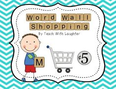 I created this word work activity to get my students thinking about and working with the words on the word wall. This will work with ANY W. Word Wall Activities, Work Activities, Classroom Word Wall, Classroom Ideas, Student Office, Tiles Price, Alphabet Charts, First Grade, Second Grade