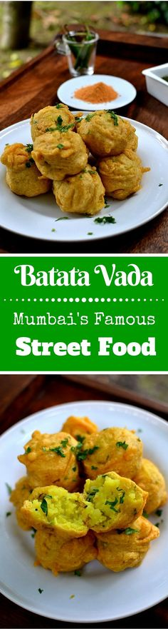 Mumbai-style Batata Vada Spice in the City: This Iconic Potato Fritter from the Streets of Mumbai is one of the most scrumptious Street Food you will ever eat! Indian Appetizers, Indian Snacks, Indian Food Recipes, Appetizer Recipes, Vegetarian Recipes, Snack Recipes, Cooking Recipes, Cooking Tips, Batata Vada