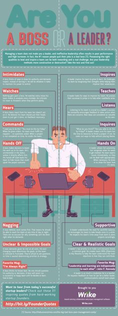 Are You A Boss Or A Leader [Infographic