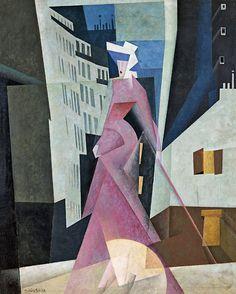 Lyonel Feininger - Lady in Mauve, 1922