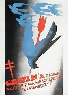 designer: Gronowski Tadeusz poster title: Gruzlica zabija walczcie z nia nie szczedzac sil year of poster: 1931