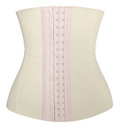 f80b18444c Kimring Womens 4 Spiral Steel Boned Latex Hooks Hourglass Waist Trainer  Corset Underbust Body Shapewear Girdle Ivory XSmall     Details can be  found by ...