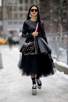 New York Fashion Week Street Style Day 4 Fall 2017, See the best street style captured at NYFW:Women's Fall 2017 at The Impression.com