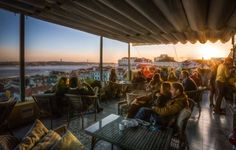 Terraco ba - The small terrace on the top floor of the Bairro Alto Hotel Portugal Travel, Spain And Portugal, Lisbon Bars, Week End En Amoureux, Best Rooftop Bars, Small Terrace, Café Bar, Top Restaurants, Vacation Destinations