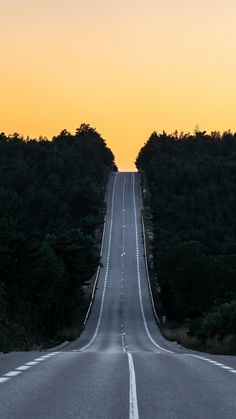 Road, journey, sunset, France, 720x1280 wallpaper