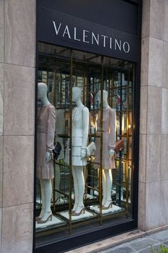 Nothing less than perfect shop till you drop, store windows, shop window displays, Valentino Store, Decoration Vitrine, Luxury Store, Shop Till You Drop, Shop Fronts, Fancy, Shop Window Displays, Go Shopping, Window Shopping