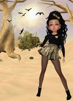 Cheetah print outfit- little girl