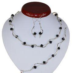 BIŻUTERIA ŚLUBNA KOMPLET ŚLUBNY wieczorowy posrebrzany kryształki czarny  KP240 Jewelry, Fashion, Jewlery, Moda, Jewels, La Mode, Jewerly, Fasion, Jewelery