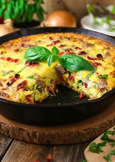 "<p><a href=""http://www.theslowroasteditalian.com/2016/02/sun-dried-tomato-ricotta-frittata-recipe.html"" target=""_blank""><strong>Sun-dried Tomato and Ricotta Frittata</strong></a> is the perfect breakfast for dinner recipe. Cooked in a cast iron skillet this frittata is light and fluffy with pockets of ooey gooey cheese throughout. Bejeweled with sweet sun-dried tomatoes, basil and flavorful sausage this is my all time favorite brinner!</p> <p><strong><a…"