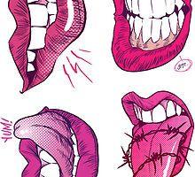 Lips Sticker Collection von Chris Wahl