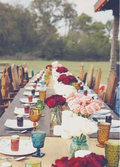 Long tables are a must. Sit next to the person you came with and across from someone you do not know!