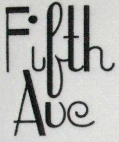 Fifth Ave Embroidery Fonts | Apex Embroidery Designs, Monogram Fonts & Alphabets