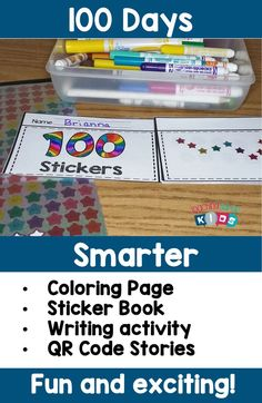 Day of school fun sticker book template. Check out this pack filled with hands on activities for the day celebrations. First Grade Activities, Hands On Activities, Kindergarten Activities, Writing Activities, 100 Days Of School, School Fun, 100 Day Celebration, Calendar Activities, Calendar Time