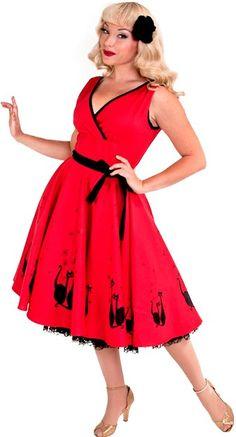 Heart of Haute Serena Dress in Gato Red   Blame Betty