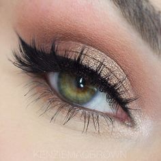 """Beautiful look @kenziemacbrown  EYES: Using my Waterproof Crème color in """"Jet"""" with shadows from the Jaclyn Hill  Favorites Palette by Morphe Brushes  LASHES: @blvdbeauty in the style """"Luxe Be a Lady""""  #anastasiabrows #anastasiabeverlyhills"""