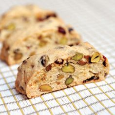 Cranberry Pistachio Biscotti My absolute favorite!!! I love when my momma makes these... I think it's time I try